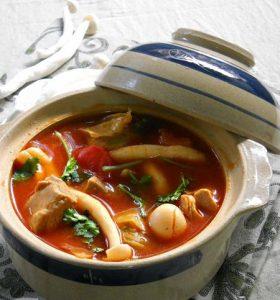 Nhung hươu nấu với nấm hương